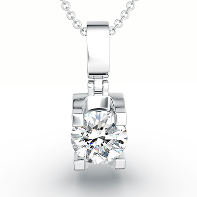 ORRO Modern Pronged Solitaire Pendant (0.50ct)