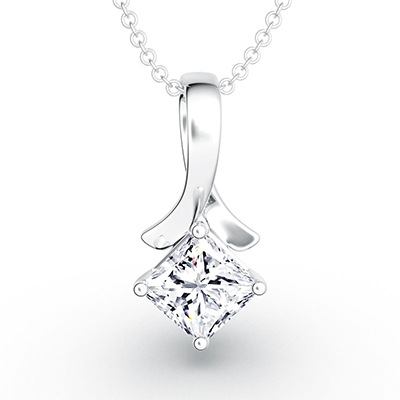 ORRO Princess Cut Twist Pendant