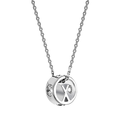 The ORRO Colette Initials Pendent (Brilliance) in 18K Rose Gold