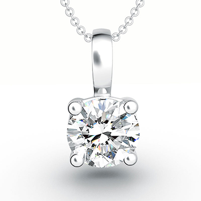 ORRO Classic Solitaire Pendant in 18K Yellow Gold