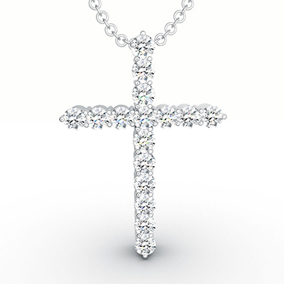 ORRO Classic Cross Pendant (Large) in 18K Rose Gold