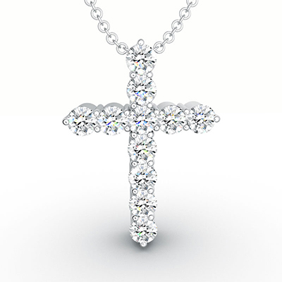 ORRO Classic Cross Pendant (Small) in 18K Rose Gold