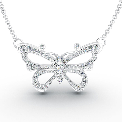 ORRO Mariah Butterfly Pendant in 18K Yellow Gold