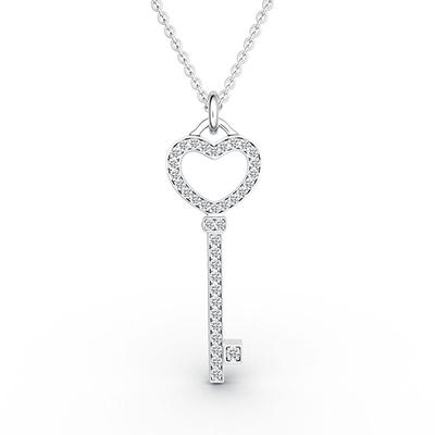 ORRO Heart Key Pendant