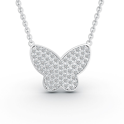 ORRO Flutter By Pendant (Large) in 18K White Gold