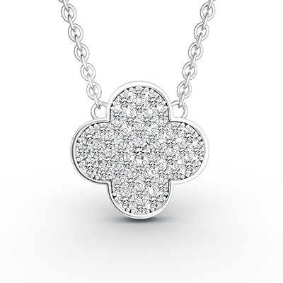 ORRO Lucky Clover Pendant (Small) in 18K White Gold