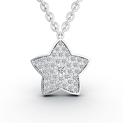ORRO Star of My Life Pendant (Large) in 18K White Gold