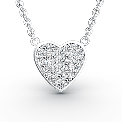 ORRO Heart of Life Pendant (Small) in 18K White Gold