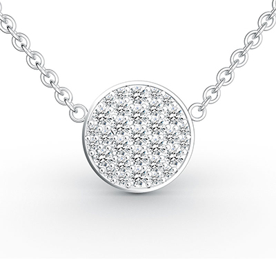 ORRO Circle of Life Pendant (Small) in 18K White Gold