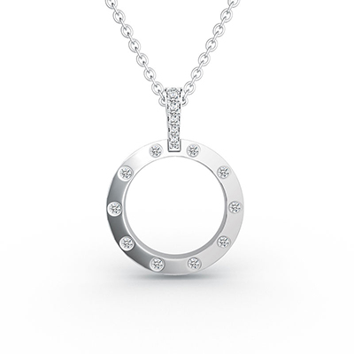 ORRO You Complete Me Necklace in 18K Rose Gold