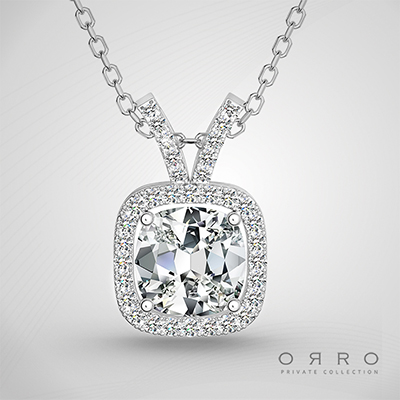 ORRO Jewel of the Arctic Pendant (1.0ct Cushion Cut Stone)