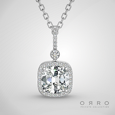 ORRO Requital of Love Pendant (2.15ct Cushion Cut Stone)