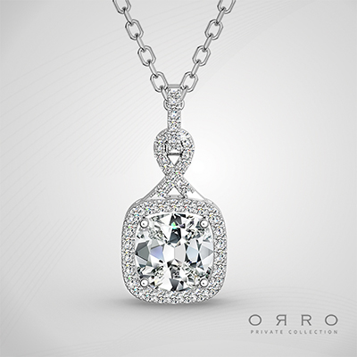 ORRO Jewel of the North Pendant (2.15ct Cushion Cut Stone)