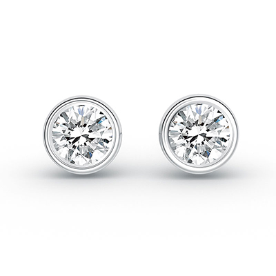 ORRO The Sophisticated Lady Earrings (0.50ct stone each side) in 18K White Gold