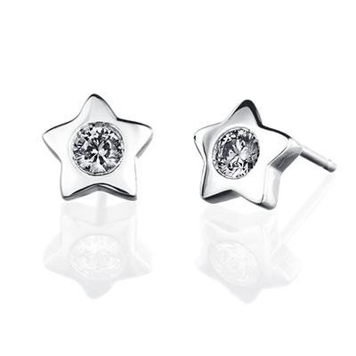 ORRO Earring Collection in 18K White Gold (P.Code: 31035)