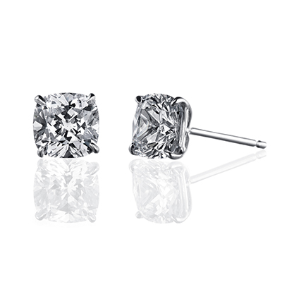 ORRO Ambre Earrings (1.0ct on each side) in 18K White Gold