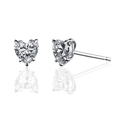 ORRO Earring Collection in 18K White Gold (P.Code: 31057) (0.50ct)