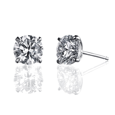 ORRO Earring Collection in 18K White Gold (P.Code: 31061) (0.50ct)