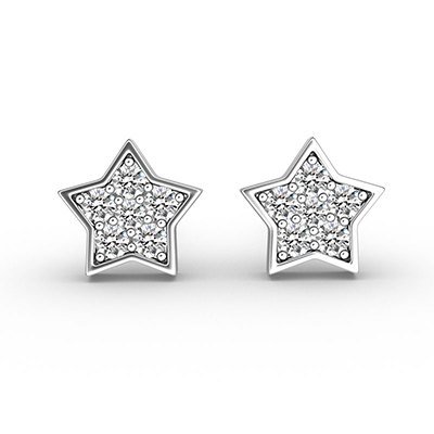 ORRO Starry-Eyed Earrings in 18K White Gold