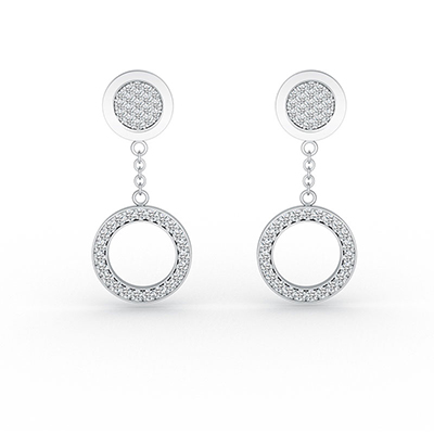 ORRO You Complete Me Ear Drops in 18K White Gold