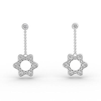 ORRO Flowery Drop Earrings
