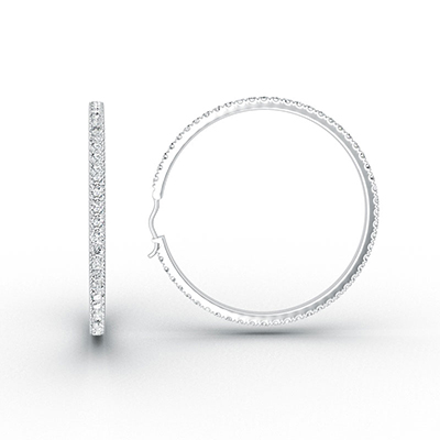 ORRO Infinity Loop Earrings (Medium) in 18K White Gold