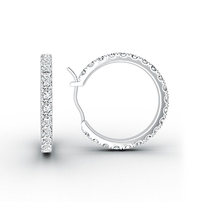 ORRO Infinity Loop Earrings (Small) in 18K White Gold