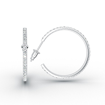 ORRO Classic Dazzling Hoop Earrings