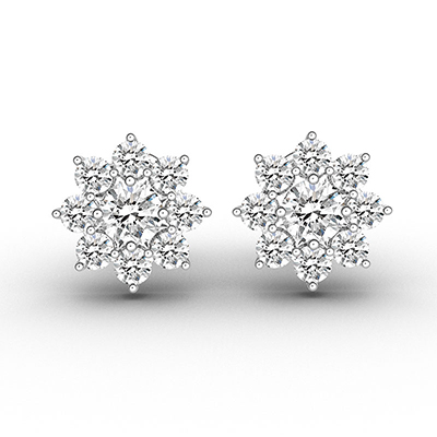 ORRO Star Flora Stud Earrings in 18K Rose Gold