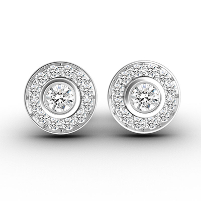 ORRO Roulette Stud Earrings in 18K Rose Gold