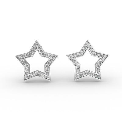 ORRO Constellation Of Stars Earrings in 18K Rose Gold