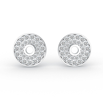 ORRO Donut Earrings in 18K White Gold