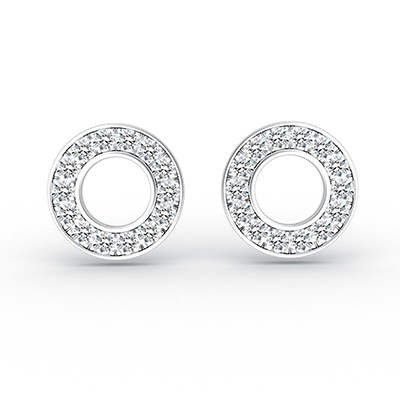 ORRO Glam Up Earrings in 18K White Gold