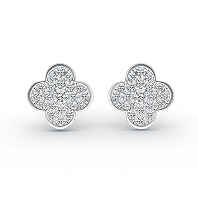 ORRO Lucky Clover Earring in 18K Yellow Gold