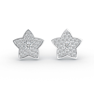 ORRO Shine like a Star Earring in 18K White Gold