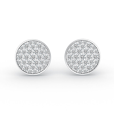 ORRO Dazzle Me Over Earrings in 18K White Gold