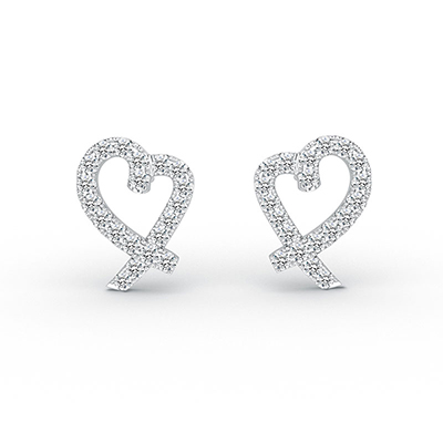 ORRO Listening Hearts Earrings in 18K Rose Gold