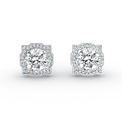 ORRO The Beautiful Pair Earrings in 18K White Gold