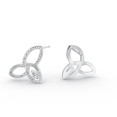 ORRO Simply Her Earrings in 18K White Gold