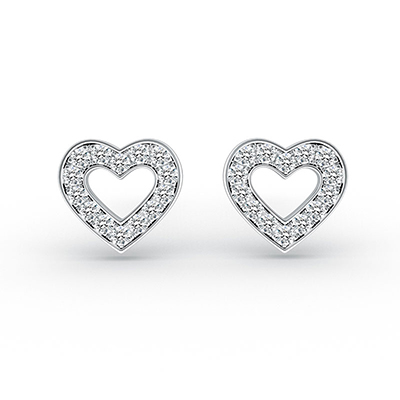 ORRO Hearts of Hearts Earrings in 18K Rose Gold