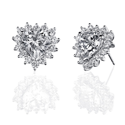 ORRO Earring Collection in 18K White Gold (P.Code: 39042)
