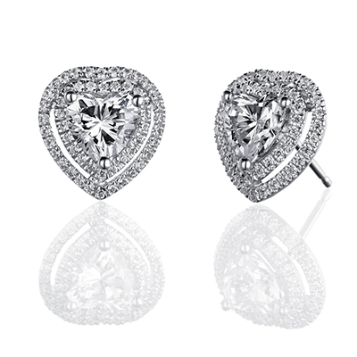 ORRO Earring Collection in 18K White Gold (P.Code: 39043)