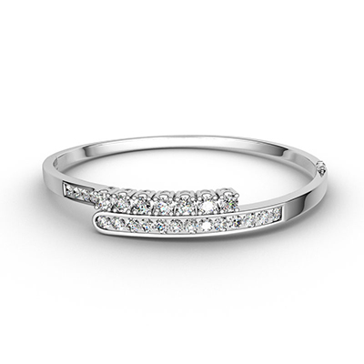 ORRO Hold Me with Love Bangle in 18K White Gold