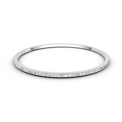 ORRO Sophisticated Classic Bangle in 18K White Gold
