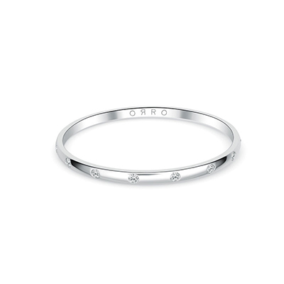 ORRO Rounded Edges Band in 18K White Gold