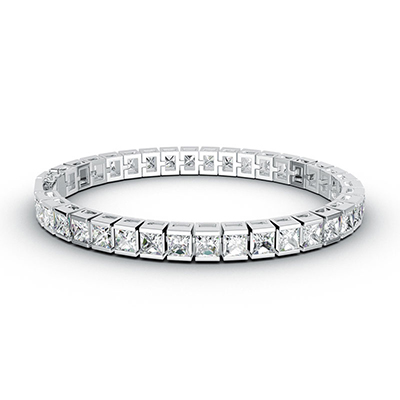 ORRO Princess Clasp Bracelet (thin) in 18K White Gold
