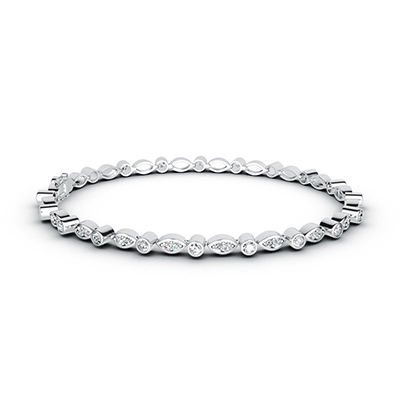 ORRO Bejewelled Bracelet in 18K White Gold