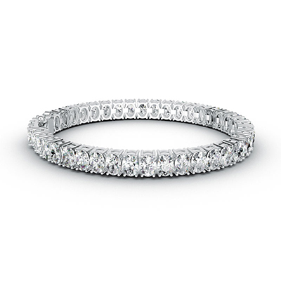 ORRO Opulent Oval Encrusted Bracelet in 18K White Gold