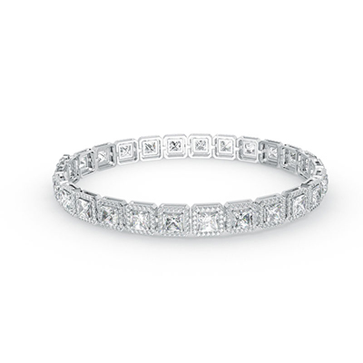 ORRO Perfectly Encrusted Bracelet in 18K White Gold